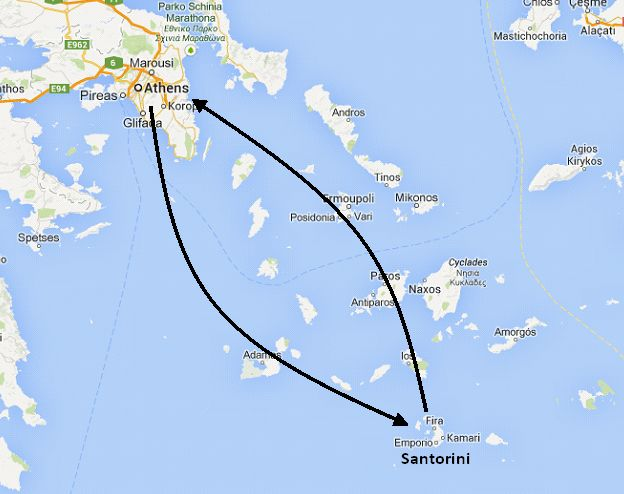 7 Night Athens Santorini Romantic Honeymoon Vacation