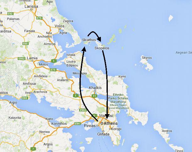 Greek islands tour where Mama Mia was filmed, Athens, Skiathos ...