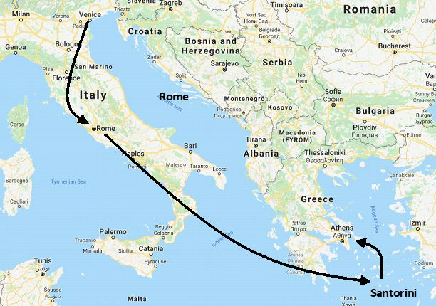 Greece and Italy Honeymoon vacation package, Romance tour ...